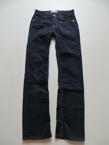 Levi's 627 Straight Fit Cord Jeans Hose, W 27 /L 32, Blau ! Stretch Cordhose !