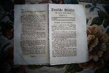 1815 23 nach Waterloo / Deutsche Blätter ...Zeitbetrachtungen