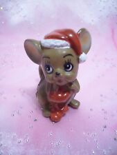 Vtg Josef Japan Original Christmas Mouse Around the House w Red Mittens Figurine