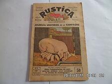RUSTICA N°4 27/01/1935 ALIMENTATION DU PORC PLANTER LES CERISIERS           G19