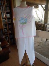 Schlafanzug Sommer für Frauen Florine t46 vintage 60/70 Frau Größe XL