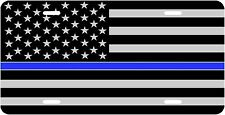 THIN BLUE LINE POLICE SUPPORT   NOVELTY VANITY  LICENSE PLATE MADE IN U.S.A.