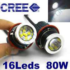 80W CREE LED Headlight Angel Eye Halo Light BMW 5-Series E39 E53 E60 E63 E64 E65