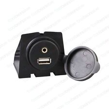 Factory Fitted Style Look AUX USB Extension Sockets Dashboard Panel Flush Mount