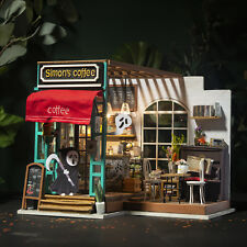 DIY Wooden Shop Dollhouses Kits Miniature Modern Cafe  with Furniture Gift Girls