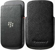 Blackberry Q10 Leather Pocket Cover Black, New Genuine OEM
