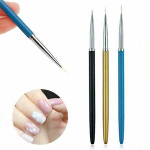 Nail Art Brush Liner Pens UV Gel Polish Paint Drawing Liner Brush Manicure 3pcs