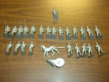 26 BIG CAESAR ROMANS AND CHARIOT silver playset figures Remco 1963 LOT