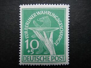 Germany 1949 Stamps MNH Offering Plate & Berlin Bear GERMAN OCCUPATION SEMI-POST