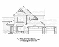 Custom two story House or home plan - 2,325 sq. ft.