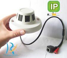Rj45 Smoke detect design spy hidden micro pinhole Ip Network Hd camera +Power