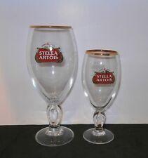 Set Of 2 Stella Artois Chalice PINT & HALF PINT Glasses Brand New His & Hers