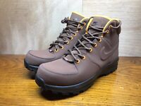 NIKE Manoa Men's Winter Boots Hiking Shoes Leather Brown Size 9