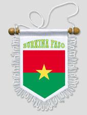 FANION DRAPEAU BURKINA FASO - 13 X 15 CM - VOITURE ET MUR