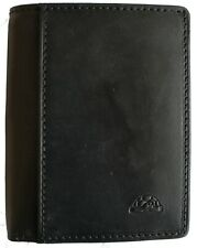 Leather Credit Card and Note Wallet Tony Perotti Italian Leather Black TP1034G