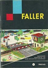 Catalogue général FALLER 1962 catalog katalog catalogo train avion FA-MOS