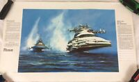 """Lot Of 6 VINTAGE Navy """"It's Not Just A Job It's An Adventure"""" Recruiting Posters"""