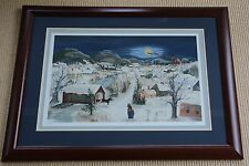 """Will Moses Framed """"To All a Good Night"""" Serigraph #105/350 with COA,  Mint!"""