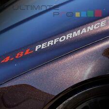 4.8L PERFORMANCE Decal hood leaf kit for GMC Sierra 1500 2500 Savana coilover