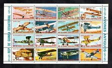 Aviation Stamp Sheet 1974  New Guinea Planes Stamp Aeroplane Avion De Havilland