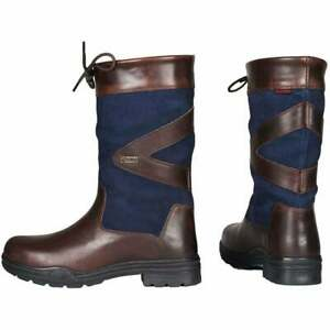 HORKA Greenwich Outdoor Blue Waterproof Leather Childrens Country Boots UK 3