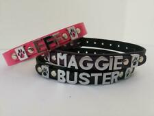 small personalised dog collar real english leather you choose name colour