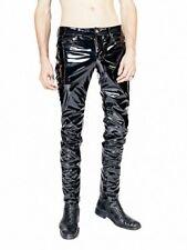 HORSE HORN EVIL GOTHIC PVC VINYL GLOSS ROCK STAR STAGE ROCKER SKINNY JEANS PANTS