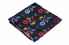 Lord R Colton Masterworks Pocket Square - Black Colorful Bliss Silk - $75 New