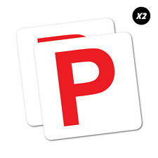 2X Red P Plate Probationary Sticker Aussie Car Flag 4x4 Funny Ute #5740EN