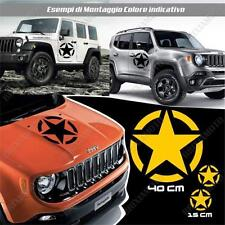 KIT 3 STICKERS STAR ARMY BODYWORK GRAPHIC JEEP RENEGADE OFF ROAD YELLOW