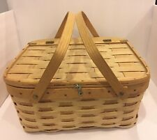 Vintage West Rindge Pie Carrier Basket made in Rindge, New Hampshire-Nice!