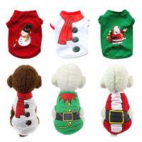 Christmas Santa Pet Clothes Cotton Warm Coat Dog T shirt Puppy Pullover Costume