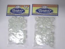 2 BAGS OF BORDENS ICE - CREAM  PROMO CATS EYE MARBLES