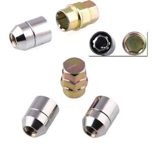 4+1 STEEL WHEEL LOCKS Nut M12x1.5 CHROME LOCKING LUG NUTS For Mounting/Removing