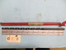 """New 23/64"""" Cle-Forge Extra length straight shank drill12"""" oal x 8"""" lof  *578*"""