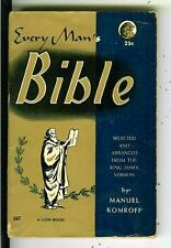 EVERY MAN'S BIBLE, US Lion #167 King James Version selections pulp vintage pb