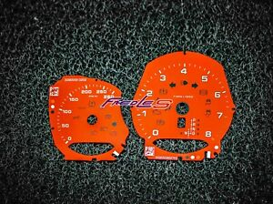 Porsche Macan 718 982 Instrument Cluster Overlay Red / Yellow / White
