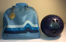 Vintage AXIS Brunswick Purple Glitter Bowling Ball KF50616 with Brunswick Bag