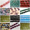 16 Inch Semi Precious Gemstone Flat Coin Oval Beads Choose Colour