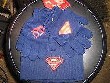 BOYS SUPERMAN HAT & GLOVE SET