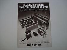 advertising Pubblicità 1973 MINERVA RADIO