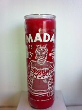 LA MADAMA 7 DAY RED UNSCENTED CANDLE IN GLASS