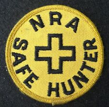 NRA SAFE HUNTER EMBROIDERED SEW ON ONLY PATCH RIFFLE GUNS AMMUNITION COMPANY 3""