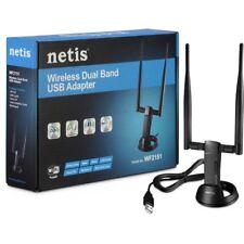 Netis WF2151 N600 High Gain Wireless Dual-Band USB Adapter w/DUAL 5dBi Antenna