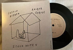 "Ariana Grande Justin Bieber Stuck With You 7"" Limited Vinyl"