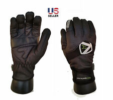 New Full Finger Winter Wind/Waterproof Thermal Cycling Bicycle Glove - BLACK