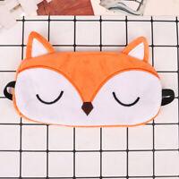 Soft Fox Blindfold Sleep Mask Natural Sleeping Eye Mask Eyeshade Cover Eye Pa_QA