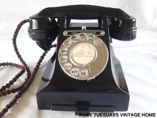 STUNNING VINTAGE GPO BLACK BAKELITE TELEPHONE call exchange DIAL retro Art Deco