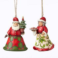 Jim Shore Heartwood Creek Santa and Mrs. Claus Christmas Ornament Set 4051332