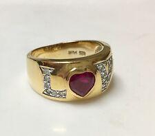 Sterling Silver  signed Love Ring  PJM Sz 10